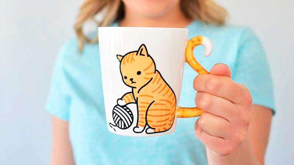 Tazas de gato, ideal para beber café