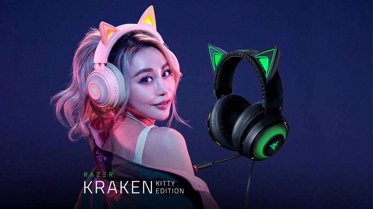 Audífonos gamer Razer Kraken Kitty Edition