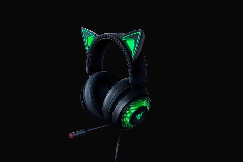 Audífonos Razer Kraken Kitty Edition color negro