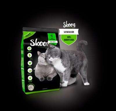 Skoon, arena para gatos felices